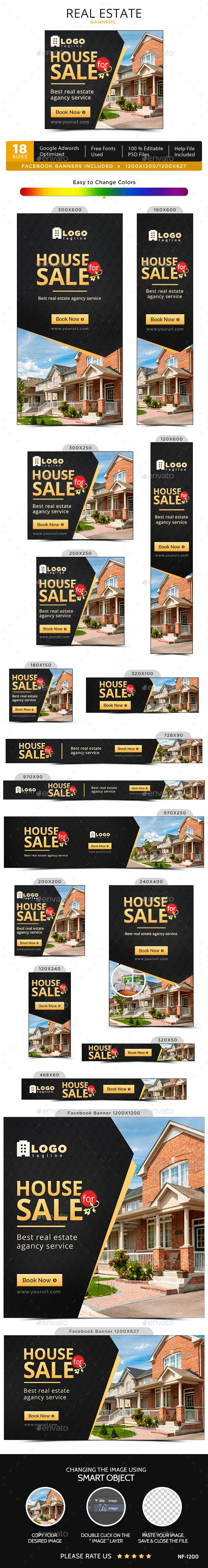 Real Estate Web Banners Template PSD. Download here: http://graphicriver.net/item/real-estate-banners/15633825?ref=ksioks