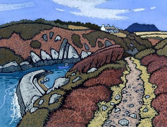 Chris Neale  Porthclais  Pastels
