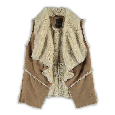 Geisha Gilet | Winter collectie 2015 | www.kleertjes.com #kinderkleding #babykleding #kids #fashion #fake #fur #trends #nepbont #imitatiebont