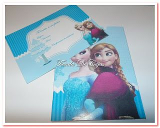 Tarjetas de Frozen Tienda De Cajas A Medida