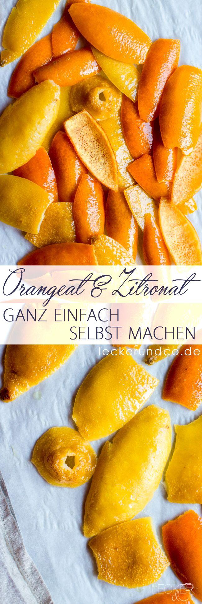 Orangeat und Zitronat ganz einfach selbst machen: 2 kg Zitrusfrüchte (Bio Zitronen und Bio Orangen) 800 g Zucker 1 L Wasser