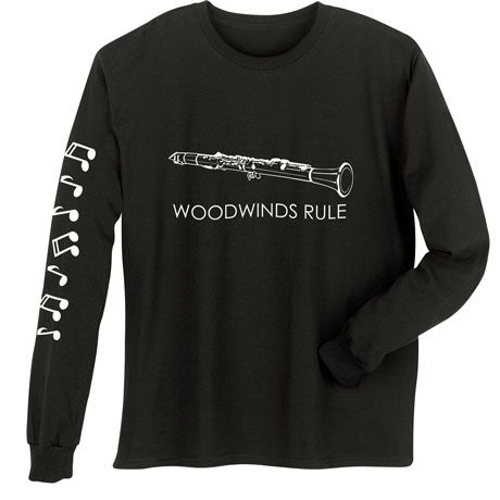 MUSICAL INSTRUMENT SHIRTS - CLARINET