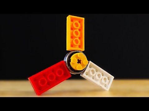 How to make a Lego Fidget Hand Spinner. DIY Fidget Toy - YouTube