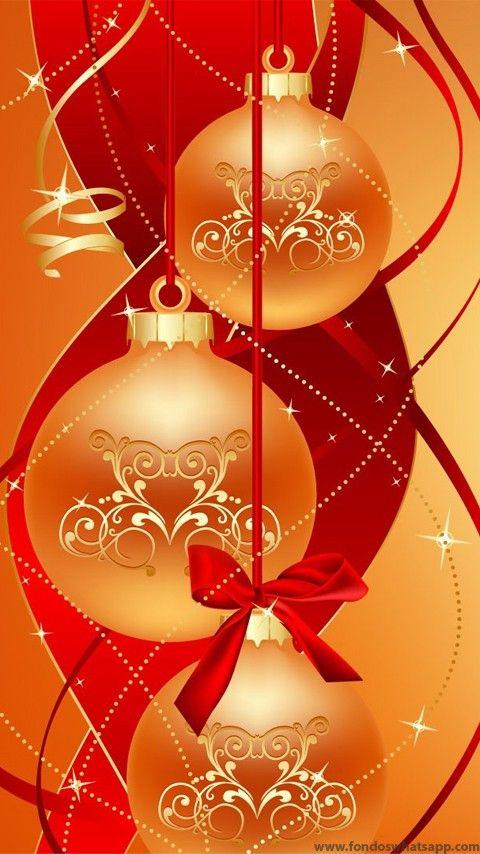 Fondo whatsapp bolas de navidad doradas fondos whatsapp - Bolas de navidad doradas ...