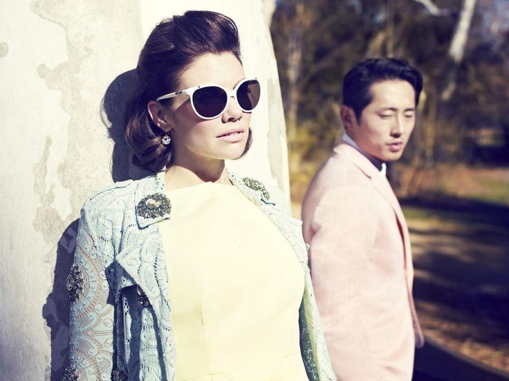 Steven Yeun and Lauren Cohan, a photoshoot by Mark Williams and Sara Hirakawa.