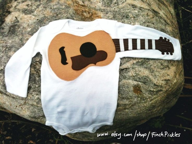 Baby shower gift Amazing Acoustic Guitar baby guitar onesie for baby shower. $23.00, via Etsy.