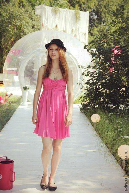 Розовое платье-трансформер - розовый,платье - трансформер,платье для беременных