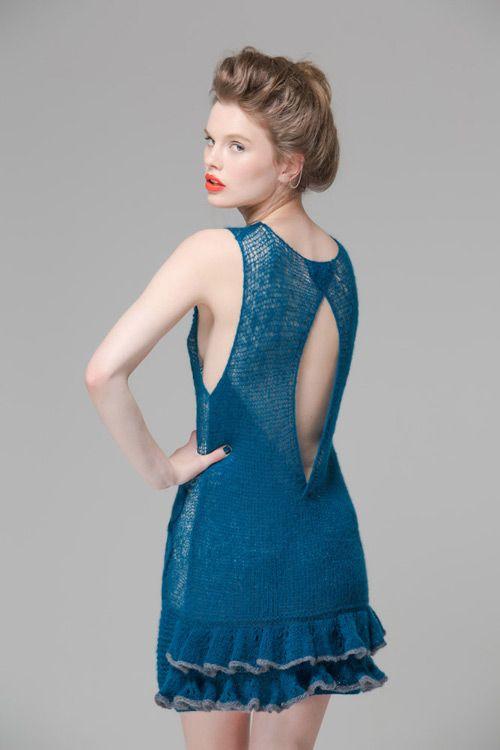 Cashmere and Silk Flapper Dress.Luxury Limited Edition Knitwear www.elkaknitwear.co.nz