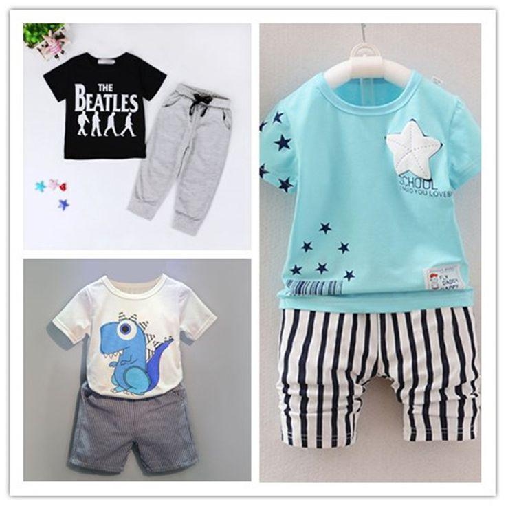 $5.21 (Buy here: https://alitems.com/g/1e8d114494ebda23ff8b16525dc3e8/?i=5&ulp=https%3A%2F%2Fwww.aliexpress.com%2Fitem%2F2017-new-Summer-children-suits-boys-girls-clothing-sets-cartoon-clothes-stars-tops-t-shirt-pants%2F32784121840.html ) 2017 new Summer children dinosaurs patterns suits boys girls clothing sets cartoon clothes stars tops t-shirt+pants 2pcs/set for just $5.21