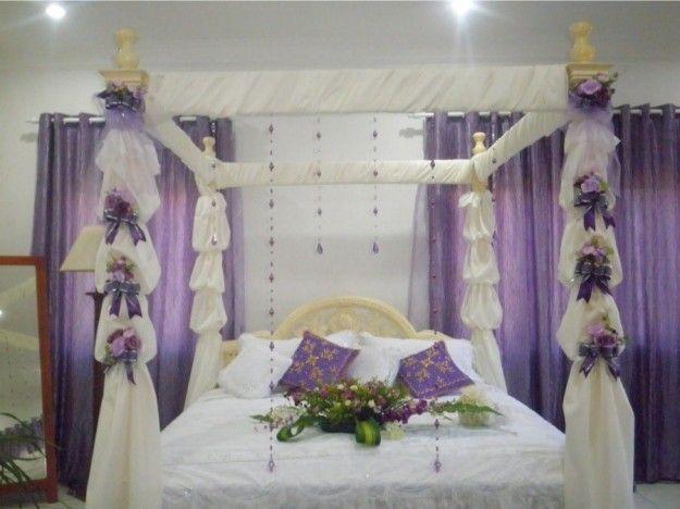 Decori festosi per la camera da letto