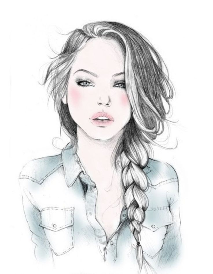 Резултат с изображение за normal drawing of a girl | Girl ...