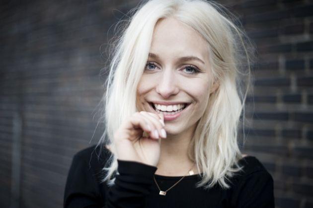 platinum blonde hair