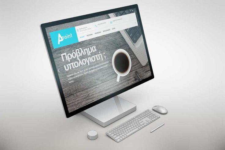 Έργο: Σχεδιασμός και κατασκευή Brand website , Χαρακτηριστικά: Responsive design, Flat colors, Modern, PHP, HTML5 ,   Brand: Apoint , Τοποθεσία: Αθήνα , Έτος: 2017