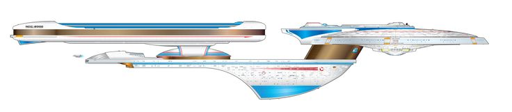 Starship schematic, class ship USS Excelsior (NCC-2000).  Keep clicking on the photo.  It'll enlarge to show one of the most amazing blueprints you've ever seen!