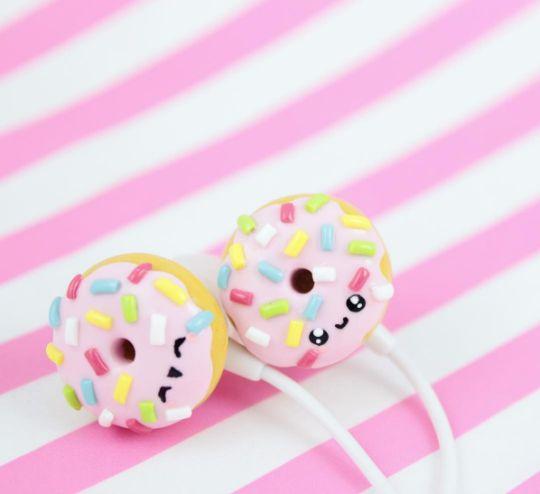 DIY donut earphones ♥