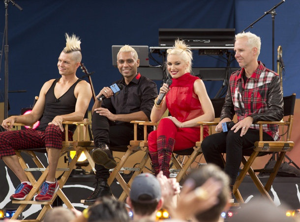 No Doubt on GMA: Adrian Young, Tony Kanal, Stefani, and Tom Dumont