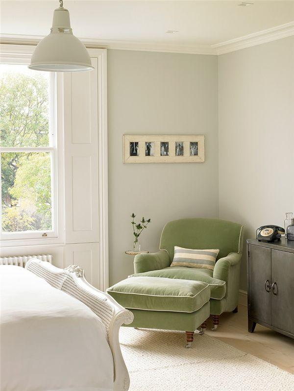 dustjacket attic  sage green bedroom bedroom green
