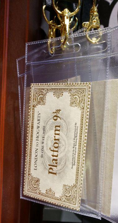 A popular London Souvenir from Kings Cross station--a Harry  Potter train ticket for platform 9 3/4
