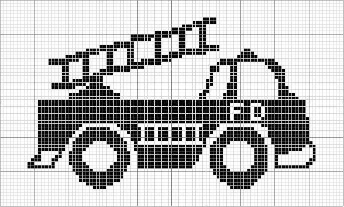 Angels Crochet - Firetruck Chart on stick...