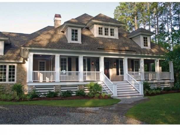 house with porch.  Follow the link for house plan.
