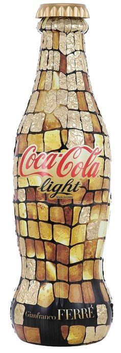"""Coca Cola Light """"Tribute to Fashion"""" Limited Edition bottle #packaging designed by Gianfranco Ferré PD"""