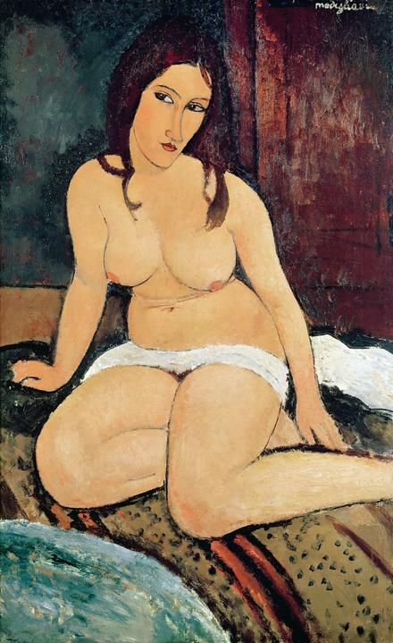 Seated Nude, by Amedeo Clemente Modigliani (1884~1920) was an Italian painter and sculptor who worked mainly in France.
