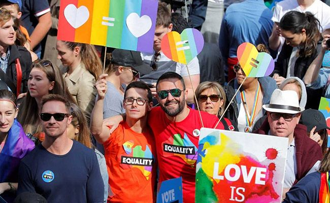 Australia Homosexual Marriage Rally Attracts Report Crowd Forward Of Postal Vote People protesting for Gay marriage rights in Australia (Reuters) Sydney:  More than 20,000 people rallied in Sydney on Sunday urging the legalization of same-sex marriage, days ahead of a contentious postal survey on the issue that has divided the country.Organizers said the gathering was Australia's largest gay rights demonstration, as a diverse range of people clad in rainbow colours converged on the heart of…