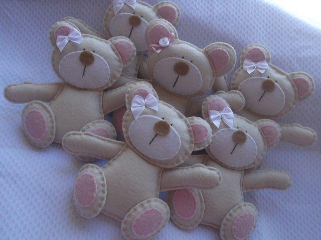 Felt bears, via Flickr.