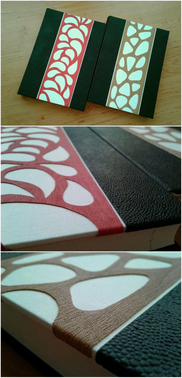 A jövő évi munkanaplóm (az egyik egy barátomé).B5 méretű napi agenda,chamois lapokkal.