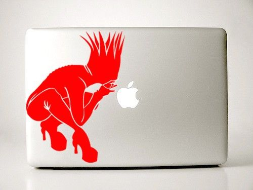 Lipstick Red Bad Romance Lady Gaga Apple Decal Macbook by IvyBee. , via Etsy.