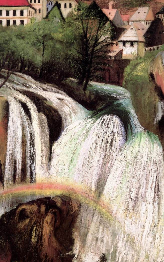 Csontváry Kosztka Tivadar - Jajcei vízesés (részlet) / Waterfall at Jajce (detail),  1903