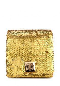 Клатч, Eternel, цвет: золотой. Артикул: ET005BWOGC94. Женские аксессуары / Сумки / Сумки через плечо