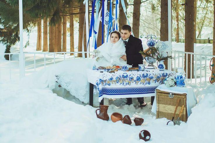 Wedding & Gzhel. .