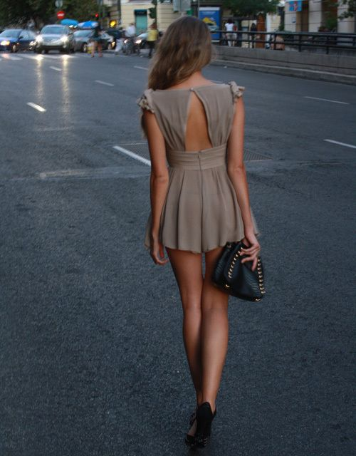 Mini, partially-backless, the color.. everything about this dress is perfect.