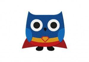Free Super Hero Owl Machine Embroidery Design