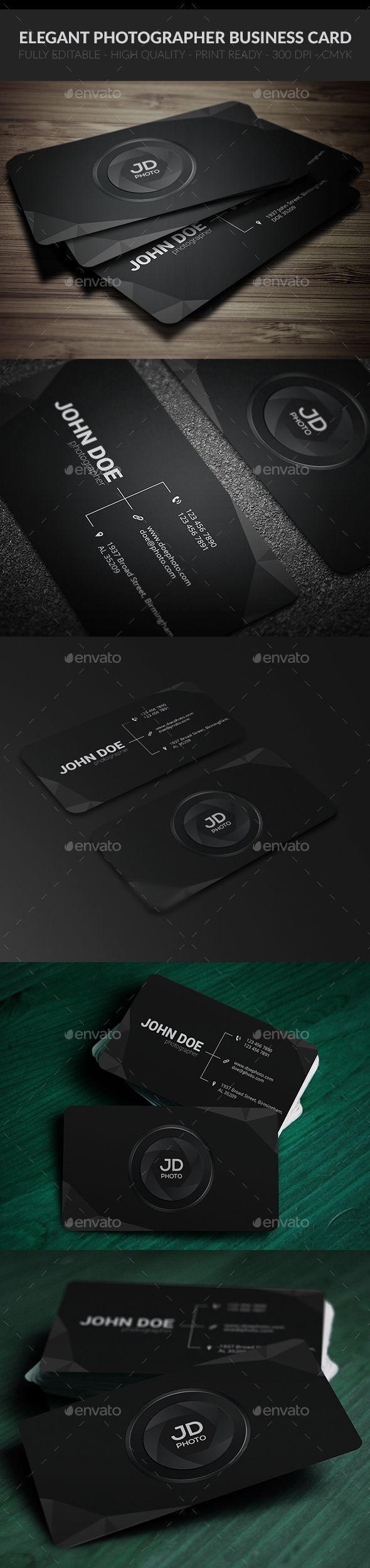 Elegant Photographer Business Card  —  PSD Template