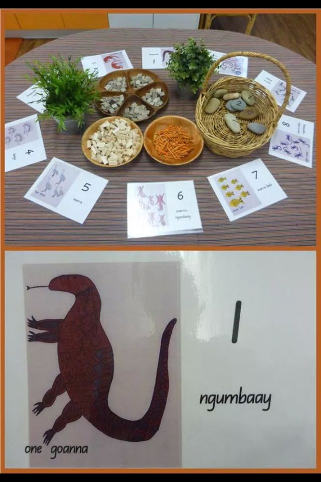Learning counting with natural resources and indigenous animals