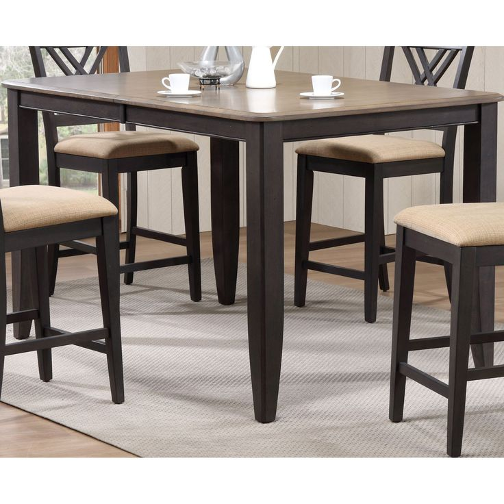 Iconic Furniture 78 in. Extendable Counter Height Dining Table