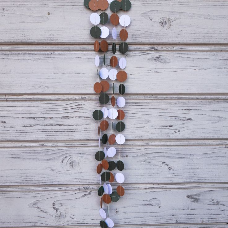 Brown and Green paper garland, Green shower, Militar garland, Army photo backdrop, Baby shower, Forest green guirlande, Wall decorations