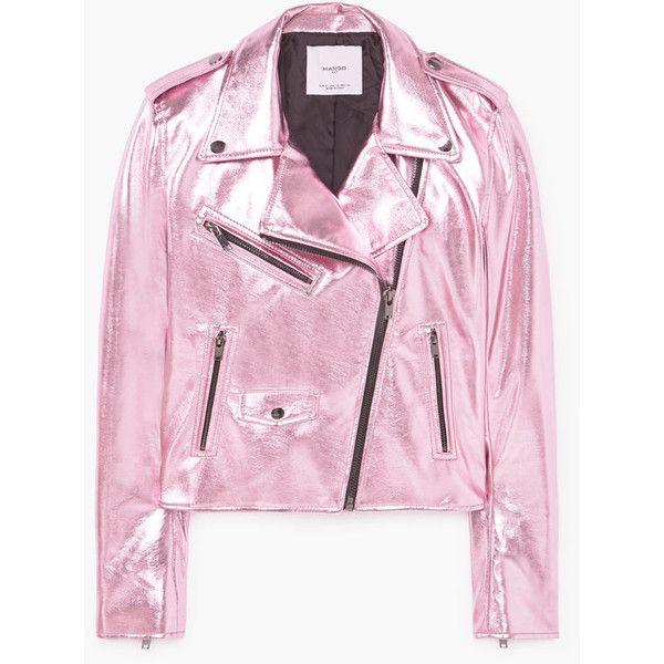 MANGO Crystals metallic jacket (£77) ❤ liked on Polyvore featuring outerwear, jackets, mango, fleece-lined jackets, mango jackets, zipper jacket, zip jacket and metallic jacket