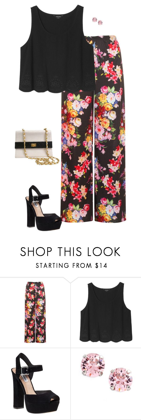 """""""My Dinner Party Outfit✨"""" by verostyle16 ❤ liked on Polyvore featuring WearAll, Monki, Steve Madden, L. Erickson and Chanel"""