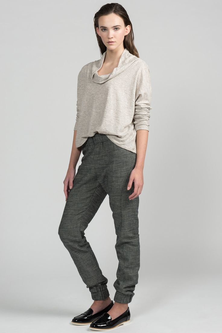 Walk Pant by Pillar.  Eco-friendly elastic waist and cuff joggers.  Made in Canada.
