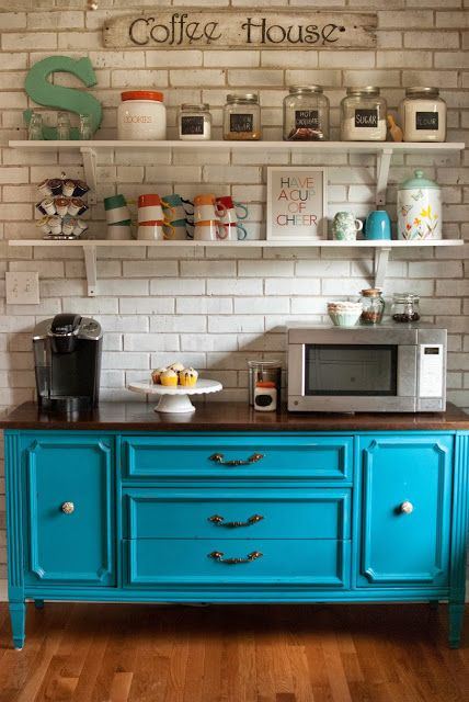 Jaime's Home Made Lovely » Life Made Lovely - coffee bar love...I have a dresser like this...should i move it to my kitchen!! @Sarah Chintomby Chintomby Chintomby Chintomby Matson what do you think?