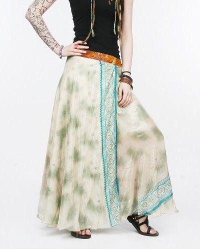Юбка-трансформер из шелка - оригинальная модная одежда для хиппи вечеринок и прогулок по городу