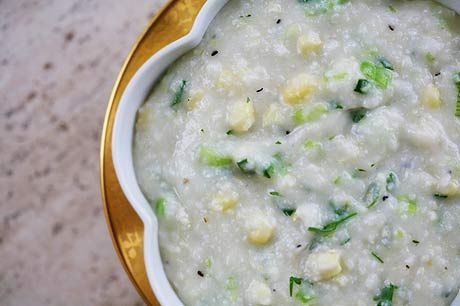 Grits with Corn and Onion Greens | Recipe