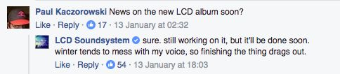 James Murphy says new LCD Soundsystem album will be done soon