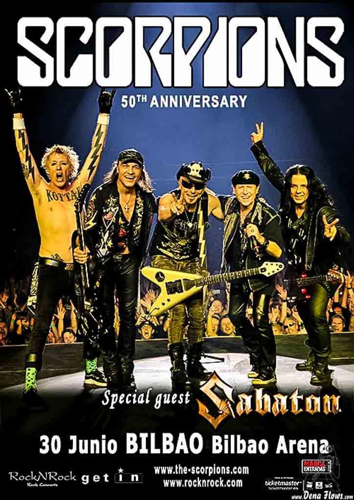 Cartel de Scorpions, Bilbao Arena, Miribilla, Bilbao, 30/VI/2016  http://denaflows.com/galerias-de-fotos-de-conciertos/s/scorpions/