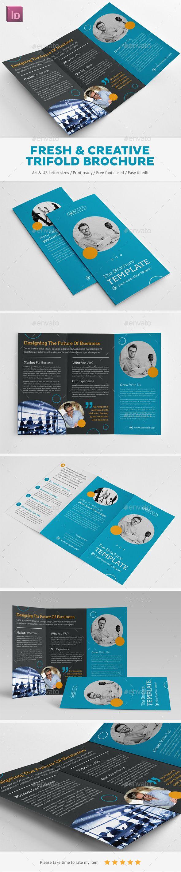 Fresh & Creative Trifold Brochure Template #design Download: http://graphicriver.net/item/fresh-creative-trifold-brochure/13103771?ref=ksioks