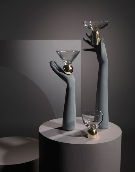 Lee Broom Preview For Milan 2015. Glass On Brass: Brass Supports Crystal  Vessels Shaped