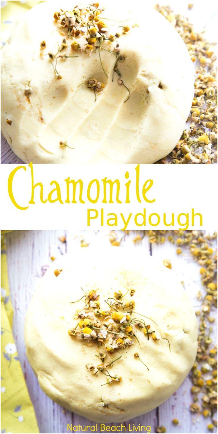 Natural Chamomile Playdough Recipe, Perfect No Cook Calming Play dough, How to Make Homemade play dough, The BEST Playdough Recipe, easy to make playdough, scented playdough, No Cook playdough recipe, Natural Playdough, Easy Playdough, Therapy dough recipe, Best Play dough recipes ever, Calming play dough, Chamomile play dough, #natureactivities #playdough #sensoryplay